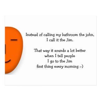 Voy al Jim - envíe una sonrisa - postal divertida