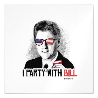 Voy de fiesta con Bill - el juerguista de Bill Invitaciones Magnéticas
