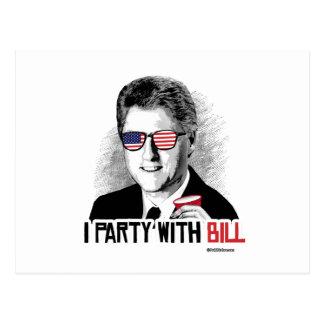 Voy de fiesta con Bill - el juerguista de Bill Tarjeta Postal