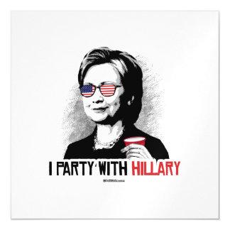 Voy de fiesta con Hillary - el juerguista de Invitaciones Magnéticas