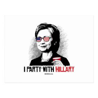 Voy de fiesta con Hillary - el juerguista de Tarjeta Postal