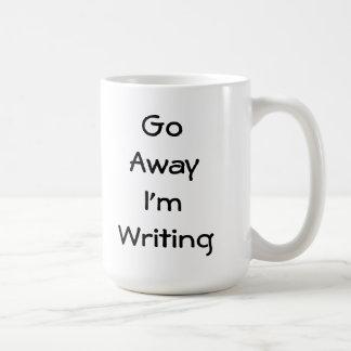 Voy lejos estoy escribiendo taza