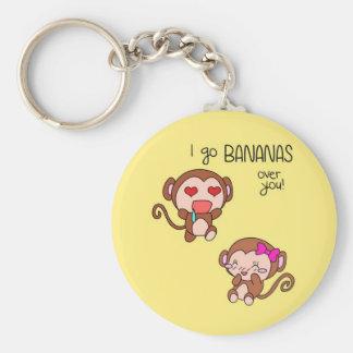 ¡Voy los plátanos sobre usted! Llavero (: