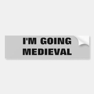 Voy medieval pegatina para auto