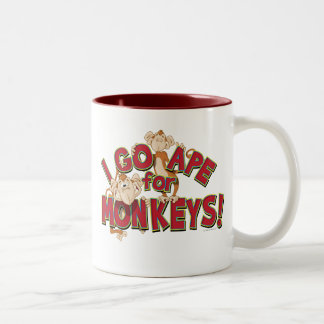 ¡Voy mono para los monos! Taza