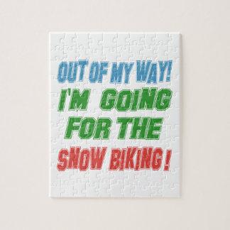 Voy para Biking. de la nieve Rompecabezas Con Fotos