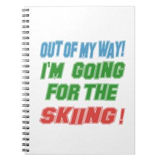 Voy para el esquí cuaderno