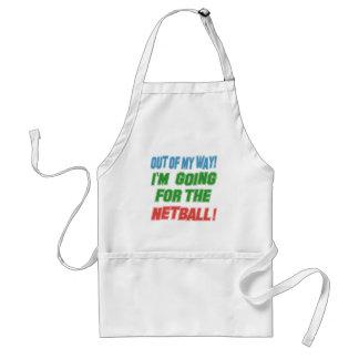 Voy para el Netball. Delantal