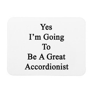 Voy sí a ser gran acordeonista imán de vinilo