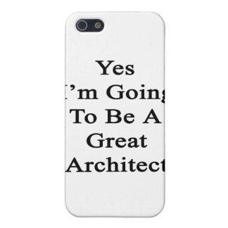 Voy sí a ser gran arquitecto iPhone 5 carcasas