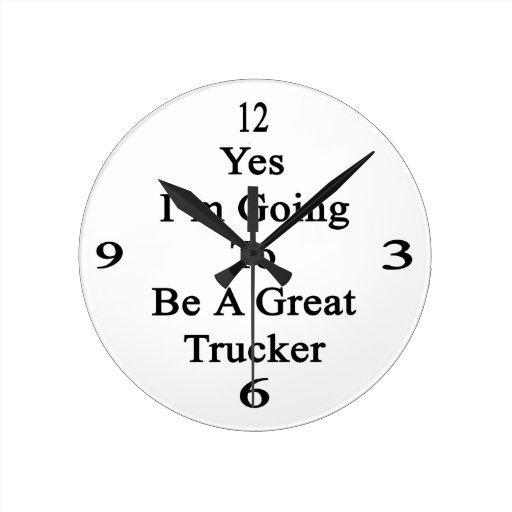 Voy sí a ser gran camionero reloj redondo mediano