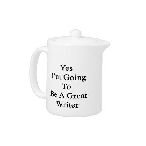 Voy sí a ser gran escritor