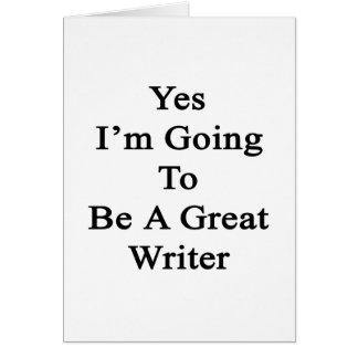 Voy sí a ser gran escritor felicitacion