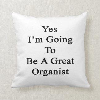 Voy sí a ser gran organista almohadas