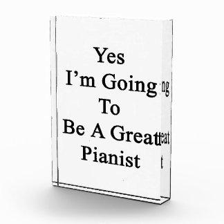 Voy sí a ser gran pianista