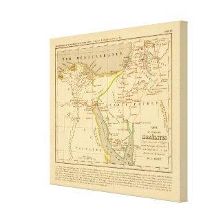 Voyage des Israelites depuis leur sortie d'Egypte Canvas Print