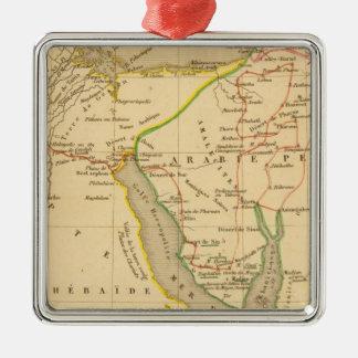 Voyage des Israelites depuis leur sortie d'Egypte Square Metal Christmas Ornament