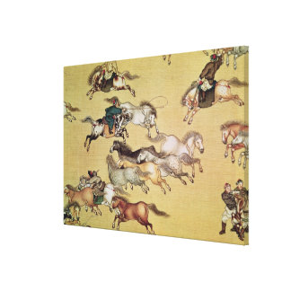 Voyage of Emperor Qianlong  detail from a Canvas Print