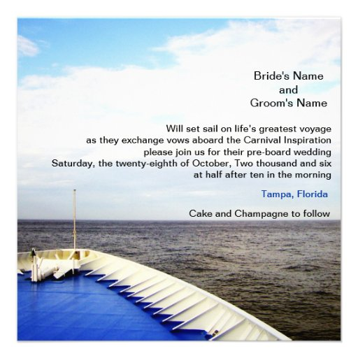Personalized Cruise Ship Invitations  CustomInvitations4U