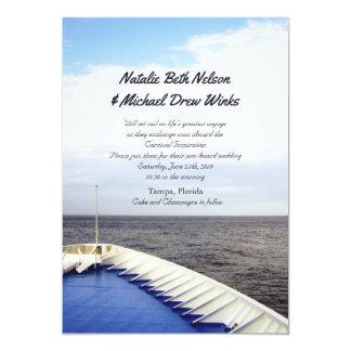 Voyage of Love   Cruise Ship Yacht Wedding Card