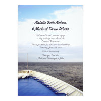 Cruise Ship Wedding Invitations Announcements Zazzle