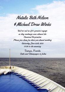 cruise wedding invitations zazzle