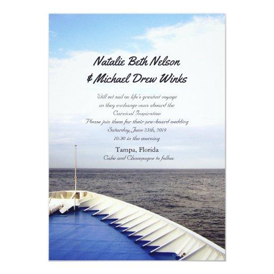 Voyage of Love | Cruise Ship Yacht Wedding Invitation | Zazzle.com