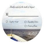 Voyage of Love Cruiseship Destination Wedding RSVP 5.25x5.25 Square Paper Invitation Card
