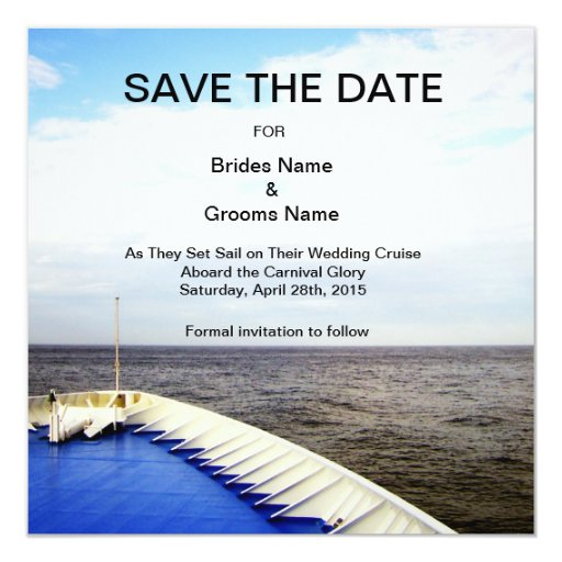 Voyage of Love l Cruise Ship Save The Date Card