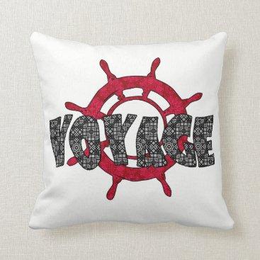 Beach Themed Voyage , sea throw pillow