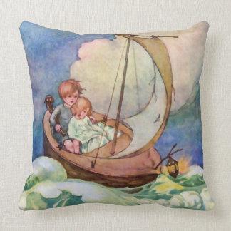 Voyage to Fairyland Vintage Throw Pillows