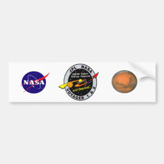 Voyager 1 & 2 bumper sticker