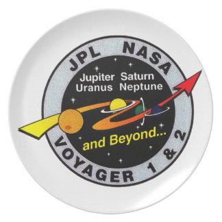 Voyager 1 & 2 dinner plate