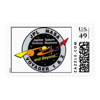 Voyager 1 & 2 postage stamp