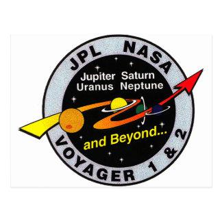 Voyager 1 & 2 postcard