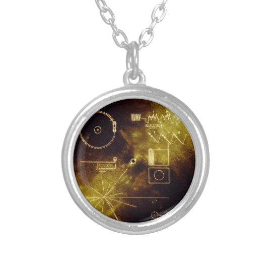 Voyager 1 & 2 silver plated necklace