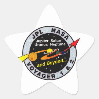 Voyager 1 & 2 star sticker