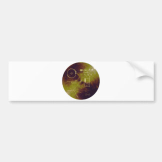 Voyager 1 and 2 Golden Record Sounds of Earth Car Bumper Sticker
