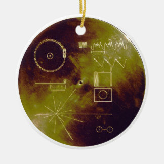 Voyager 1 and 2 Golden Record Sounds of Earth Ceramic Ornament