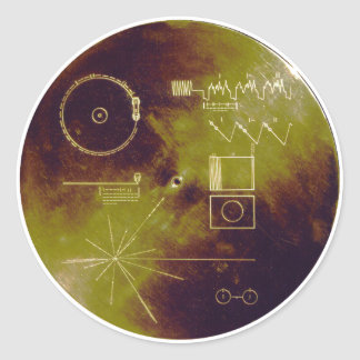 Voyager 1 and 2 Golden Record Sounds of Earth Classic Round Sticker