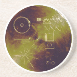 Voyager 1 and 2 Golden Record Sounds of Earth Coaster