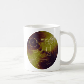 Voyager 1 and 2 Golden Record Sounds of Earth Coffee Mug