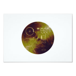 """Voyager 1 and 2 Golden Record Sounds of Earth 3.5"""" X 5"""" Invitation Card"""