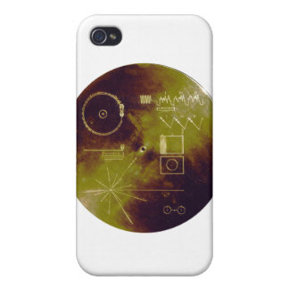 Voyager 1 and 2 Golden Record Sounds of Earth iPhone 4/4S Cases