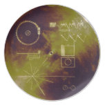 Voyager 1 and 2 Golden Record Sounds of Earth Melamine Plate