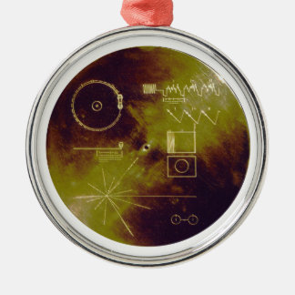 Voyager 1 and 2 Golden Record Sounds of Earth Metal Ornament