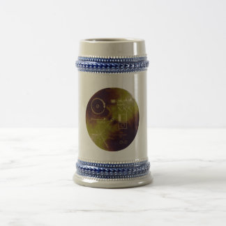 Voyager 1 and 2 Golden Record Sounds of Earth 18 Oz Beer Stein