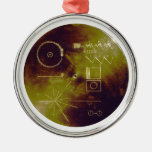 Voyager 1 and 2 Golden Record Sounds of Earth Christmas Tree Ornament