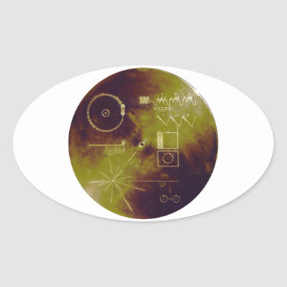 Voyager 1 and 2 Golden Record Sounds of Earth Oval Sticker