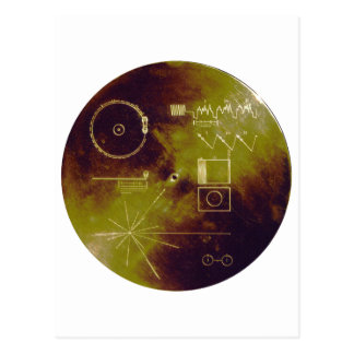 Voyager 1 and 2 Golden Record Sounds of Earth Postcard